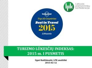 Turizmo lukesciu indeksas 2015 m I pusm